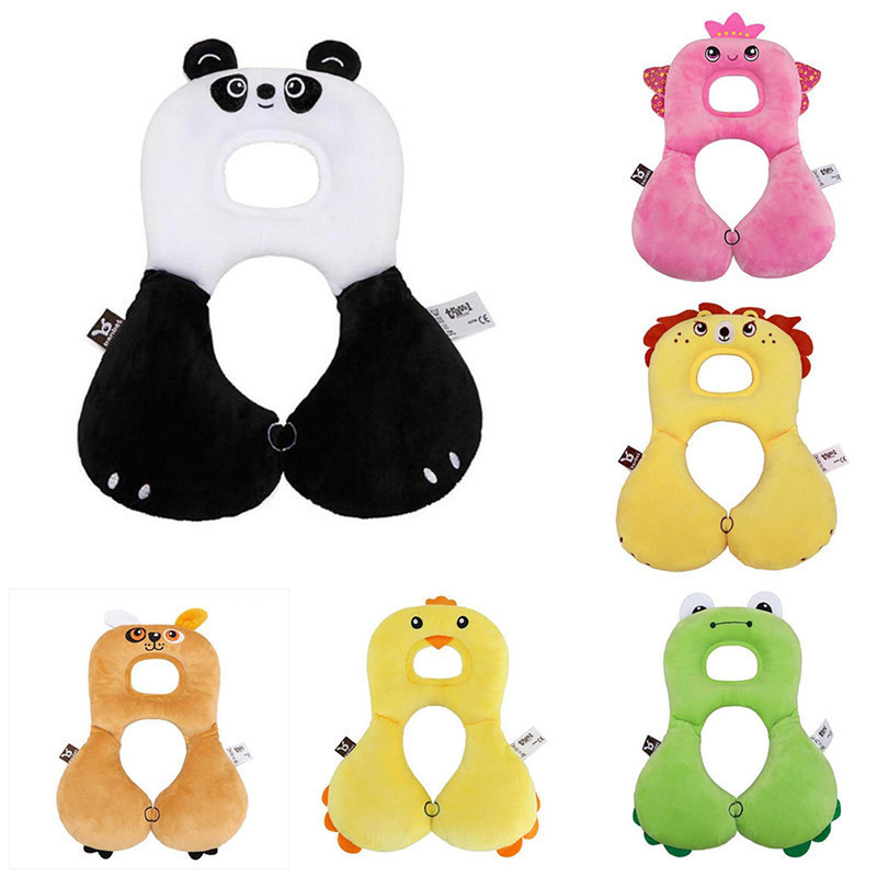 Baby Shaping Pillow Infant Car Sleeping Headrest Neck Protection Infant U-shaped Pillows Newborn Cotton Cartoon Travel Protect
