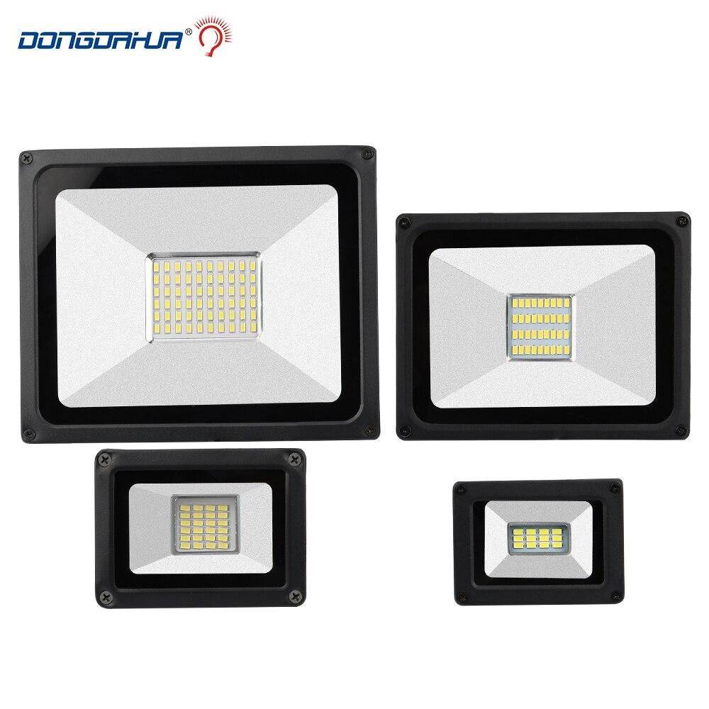 LED Flood Light 10W 20W 30W 50W Floodlight IP65 Waterproof 220V LED Spotlight Refletor LED Outdoor Lighting Gargen Lamp newest