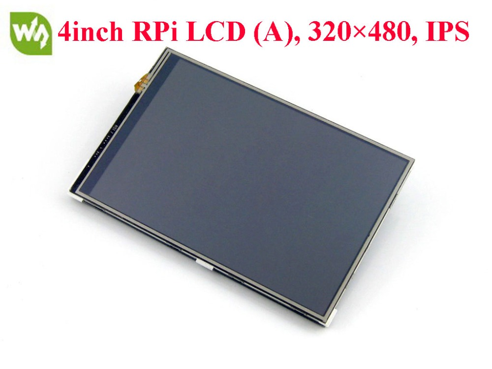 Waveshare 4inch RPi LCD (A) 320 x 480 TFT Touch Screen Raspberry Pi LCD Display SPI Interface for Any Version of Raspberry Pi g084sn05 v 5 industrial lcd tft lcd display screen 800 600 ccfl 8 4inch