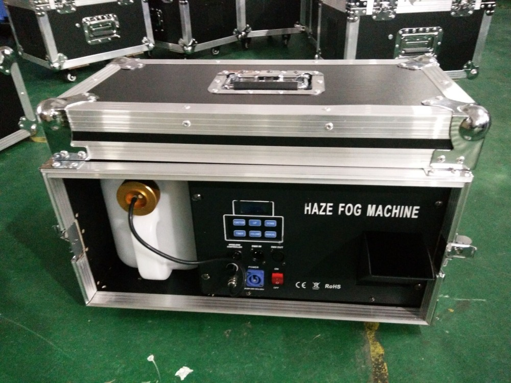 china supplier smoke machine special effect haze machine 1500W with flight case dmx512 for led light