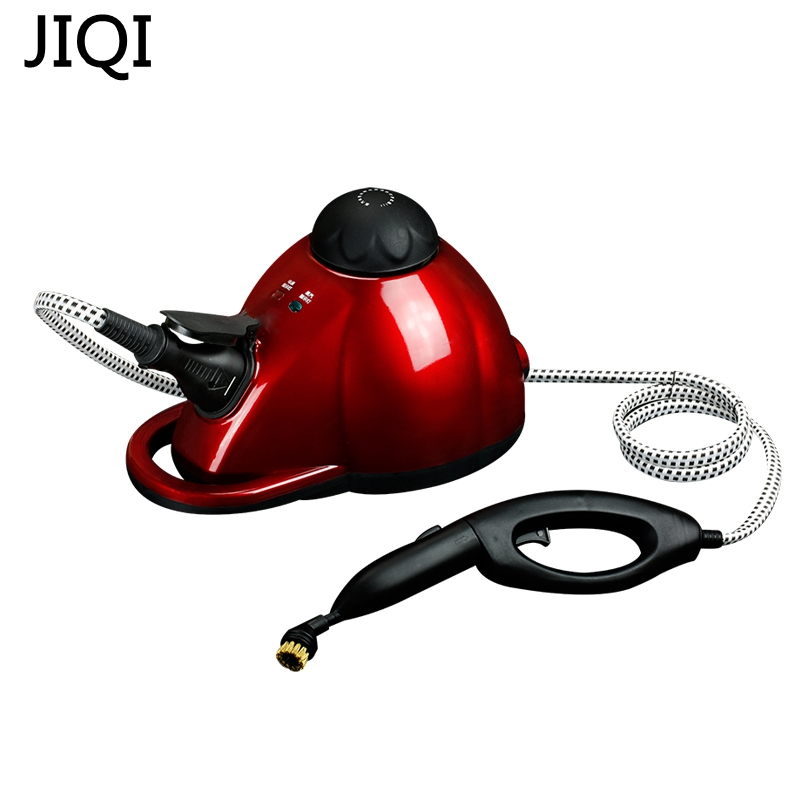 JIQI 1800W 1000mL Steam cleaner Cleaning machine Disinfector Sterilization machine Iron Anti mites With lots of accesory 5m wire