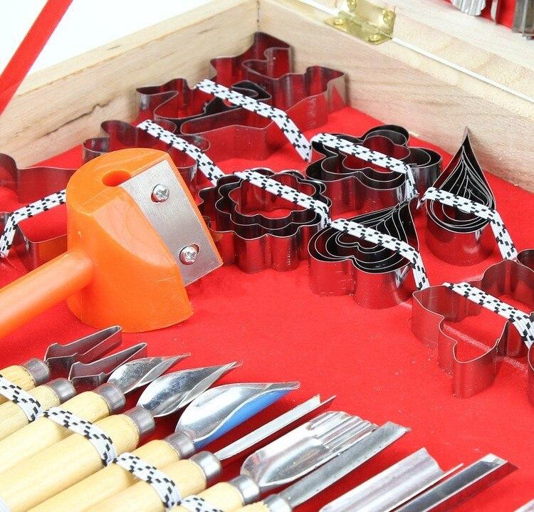 Купить Оптовая 80 ШТ. Овощной Фрукты Carving Буровой Шеф-Повар Набор ножей Набор Инструментов Подлинная Кухня Шеф-Повар Ручной Резьбой Woodcase Бесплатная Доставка дешево