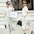 Nuevo 2016 primavera verano Casual Ladies Pant Suits mujeres pantalones blancos se adapte a conjuntos elegante oficina uniforme