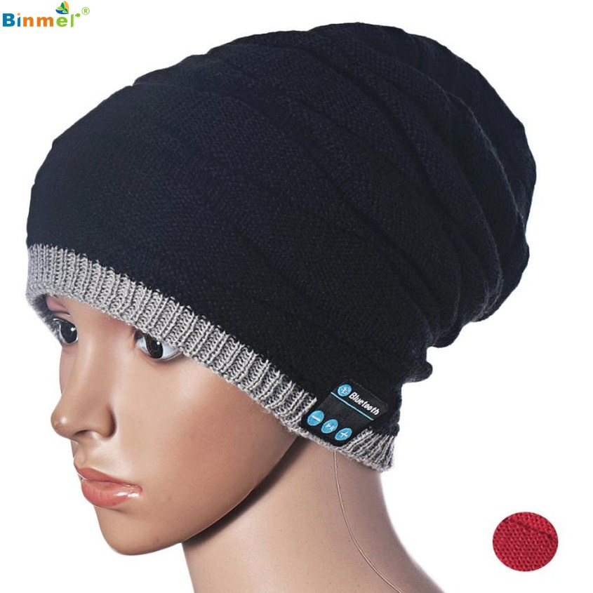 Binmer Superior Quality Warm Hat Wireless Bluetooth Smart Cap Headset Headphone Speaker Mic ST28 brushed cotton twill ivy hat flat cap by decky brown