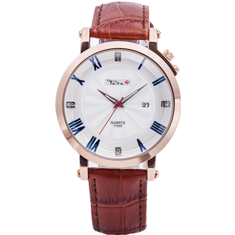 TADA Genuine Leather Strap Business Watch Quartz Luxury Sport Watch Men WOMEN Japan Quartz Movement Watch