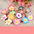 10pcs/lot 30mm Handmade Polymer Clay Plumeria Fimo Unfinished Flower Beads For Fashion Necklace Brooch Headwear Jewelry Supplies