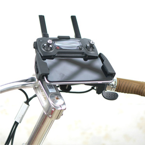 Image 5 - Remote Controller Bicycle Bracket transmitter Signal Holder Clip Outdoor Bike For DJI Mavic Pro Spark mavic 2 Drone Accessories