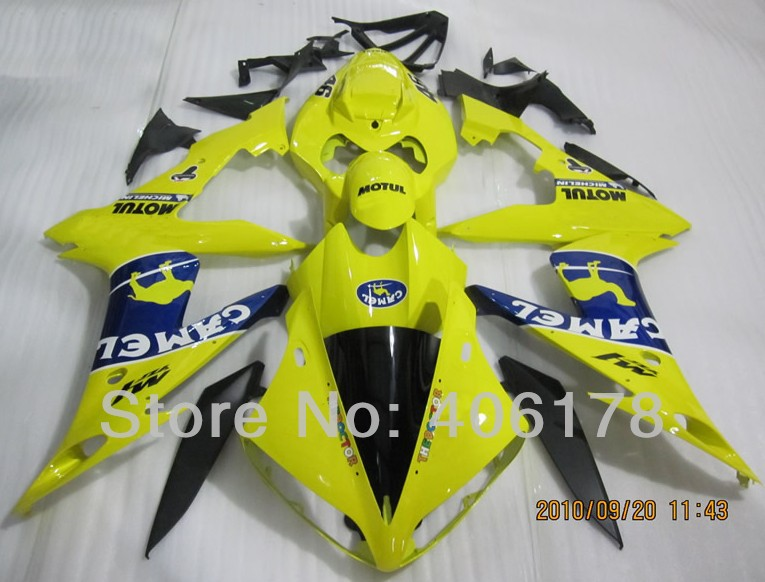 Hot Sales,Yzf1000-R1 04-06 fairing kit For Yamaha Yzf R1 2004-2006 Sport Motorcycle CAMEL Fairings (Injection molding) hot sales for yamaha yzf r1 2007 2008 accessories yzf r1 07 08 yzf1000 black aftermarket sportbike fairing injection molding