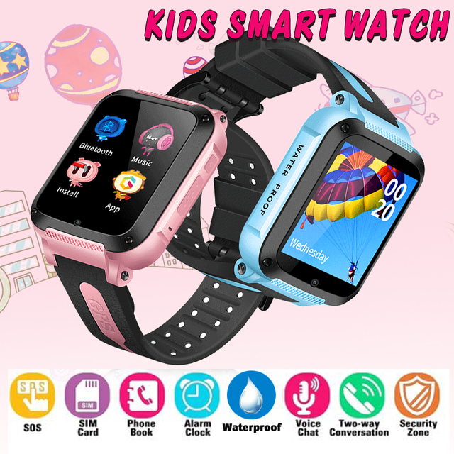 IP67 Waterproof Smart GPS Location SOS Call Remote Camera Wristwatch Tracker Kids Child Students Facebook Whatsapp smartwatch