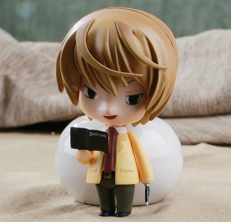 Anime Cute Nendoroid Death Note Yagami Light #12 PVC Action Figure Collectible Model Toy 10CM KT374 sosw fashion anime theme death note cosplay notebook new school large writing journal 20 5cm 14 5cm
