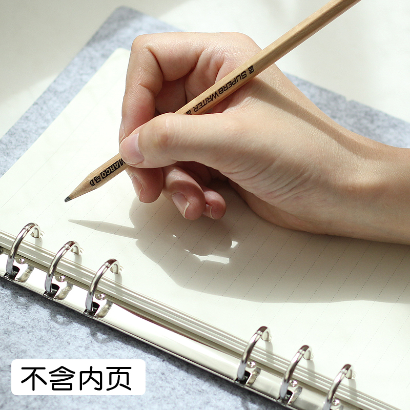 Office & School Supp. ...  ... 32813826412 ... 4 ... JIANWU Felt shell  fabric note book loose leaf inner core  A6, A7 notebook diary  A5 plan binder  office supplies  ring binder ...