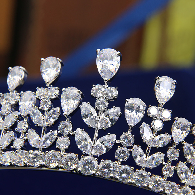 Full AAA CZ Tiara King Crown Wedding Hair Jewelry Micro Pave Party - Fashion Jewelry - Photo 3