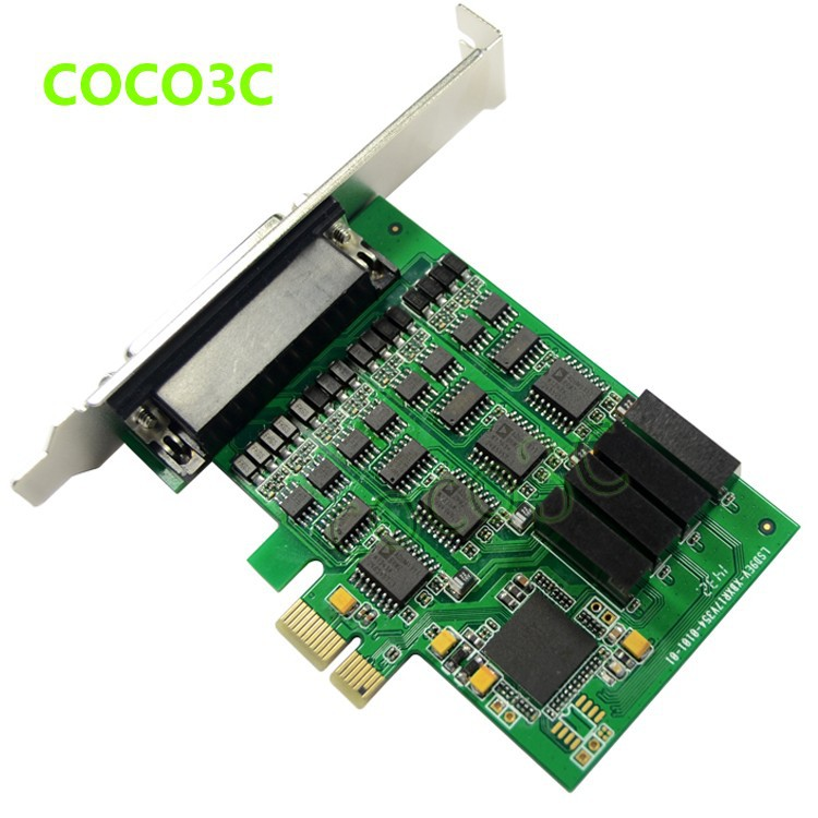 PCI express 4 ports Serial RS422 RS485 card PCI-e to Multi RS-422 RS-485 adapter PCIe Industrial IO Card + low profile bracket (4)