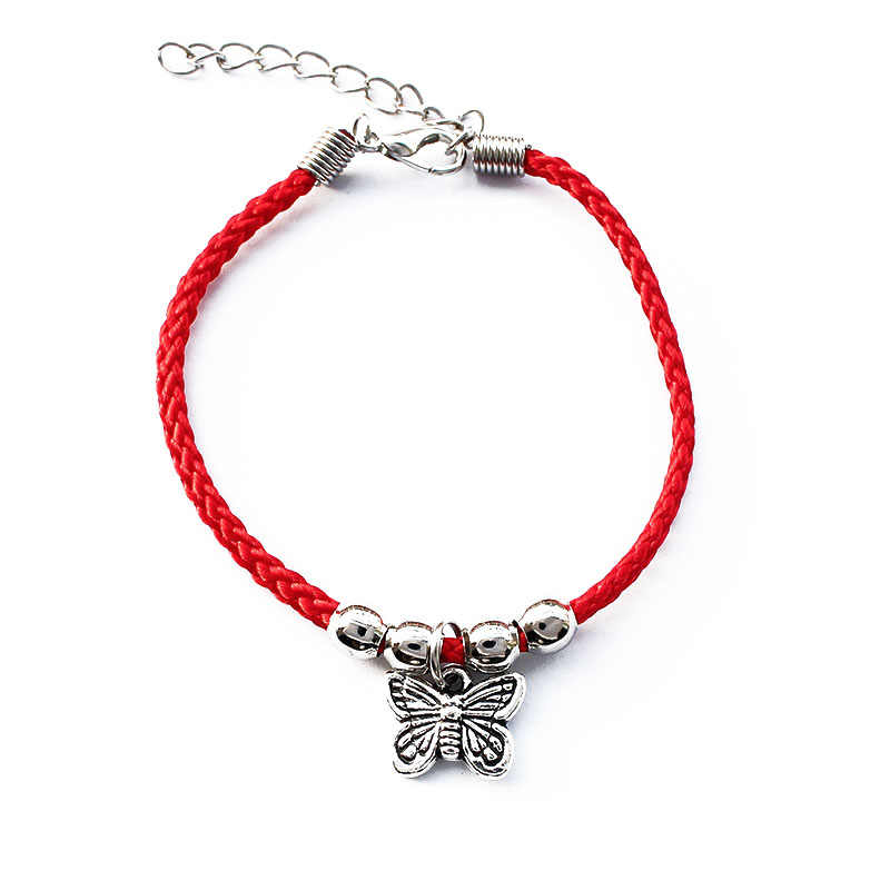 Fashion Handmade Red String Owl Butterfly Rope Bracelet Elephant Fish Charm Bracelet For Women Red String Bring Lucky Jewelry