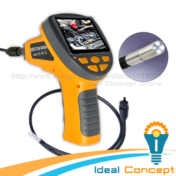 3.9mm Video Inspection Camera Industrial Borescope Pipe Car 3.5inch TFT LCD Endoscope 2L ...