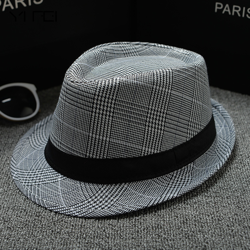 Summer Hats Multicolor Optional Solid Straw Hat For Women Beach Fedoras Casual Panama Sun Hats Jazz Caps British Style Hat