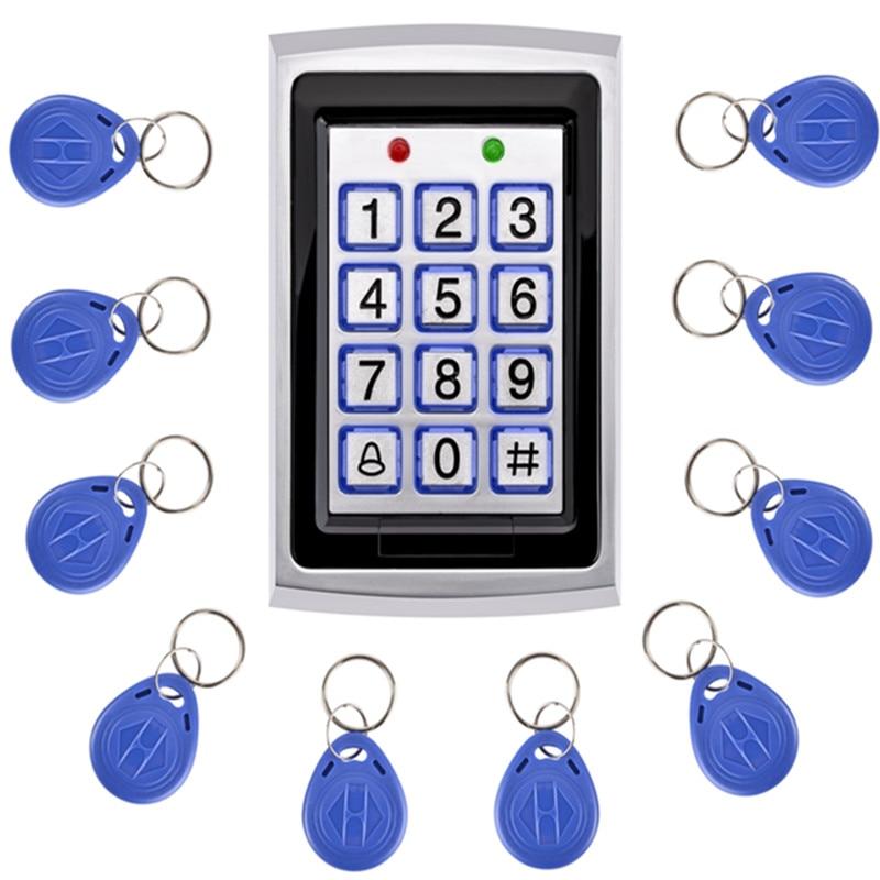 SZBestWell Metal Proximity RFID Card Door Entry Single Door Lock Waterproof Access Control Keypad System With 10 KeyCard