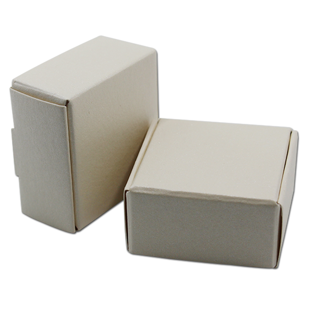 100Pcs Square White Natural Kraft Paper Box Craft Handmade Soap Jewelry Cake Packaging Cardboard 3 Size