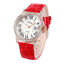Dalas Girls wrist strap purple leather-based watch