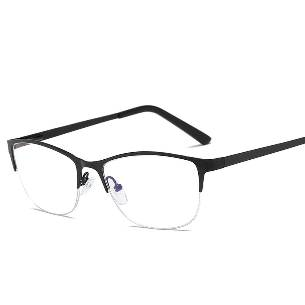 Kadınlar Metal Kedi Göz Gözlük çerçeve Marka Tasarımcı Moda Erkekler