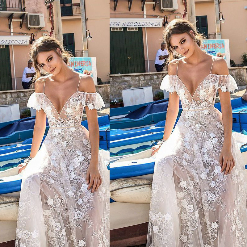 Flower Prom Dress 2018 New Elegant V Neck Off Shoulder Long Formal Party Gowns Sexy Backless Beach Maxi Dresses Vestidos Fiesta 1