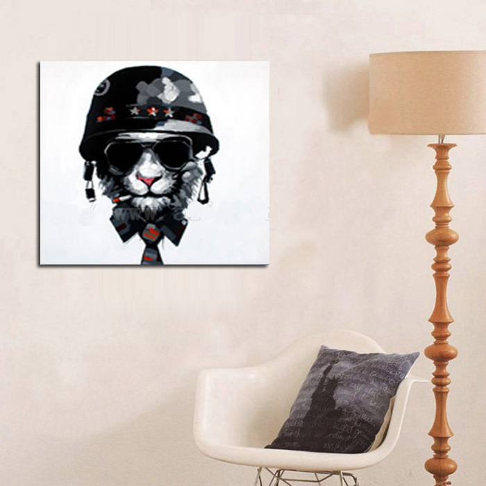 Modern Art Good Quality Animal Oil Painting Wall Art Abstract Dog Wall  Pictures Cool Dog Home Part 39