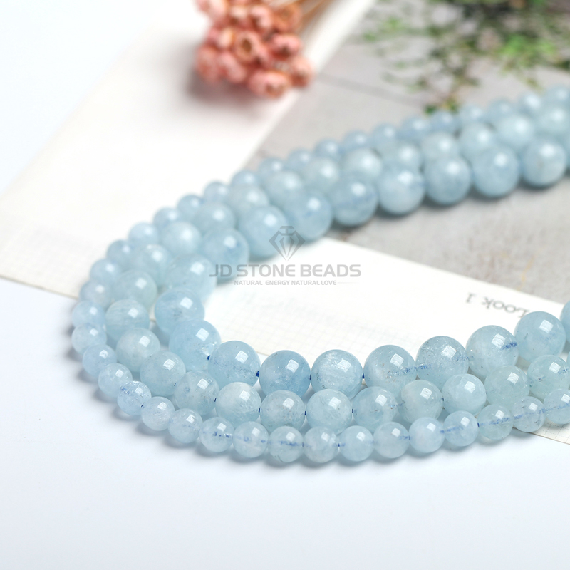 4 6 8 10 12 mm Natural Aquamarine loose Beads Free Shipping Faceted Blue Pick Szie 4 6 8 10 12 mm Natural Aquamarine loose Beads Free Shipping Faceted Blue Pick Szie  DIY Accessory Gemstone For Jewelry Making