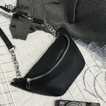 DIINOVIVO Chain Belt Bag