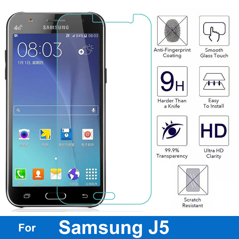 For Samsung Galaxy 2015 2016 j3 J5 j7 J500 Nano-coated Tempered Glass Protective Film Screen Protector J500Y J500G J500M J500F