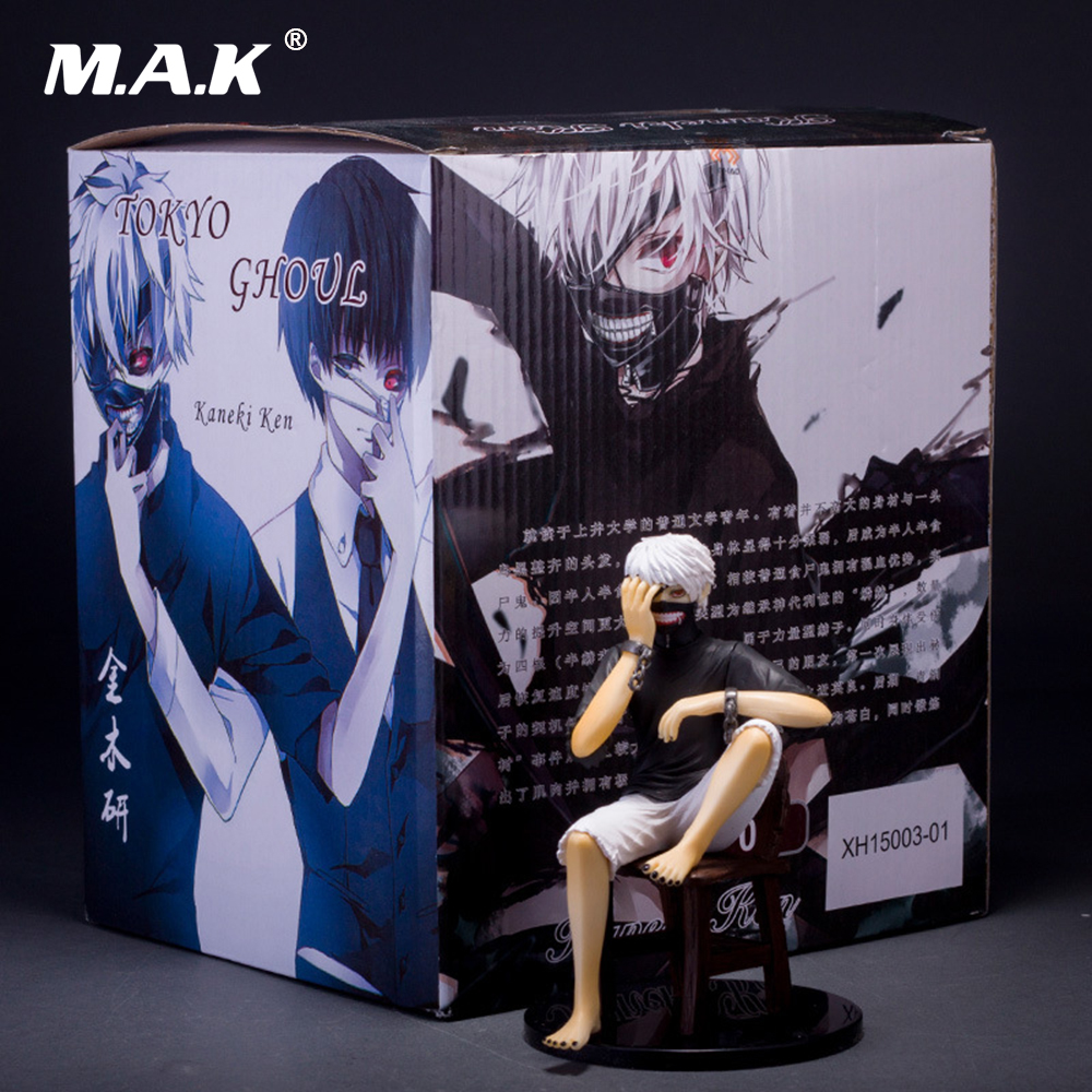 20cm PVC Action Figure Tokyo Ghoul Generation Kaneki Ken Sitting Collectible Model Toys with Box for Kid Children Gift 2 style tokyo ghoul kaneki ken awakened ver pvc action figure collectible model doll toy 22cm