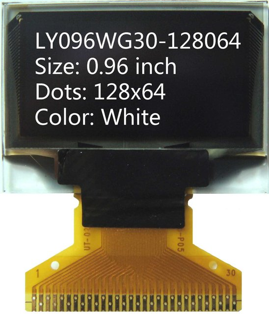 Free shipping 0.96'  white 128x64 Internal DC/DC OLED display LCD