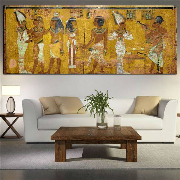 large canvas art for living room sofas rooms egyptian decor painting oil wall pictures