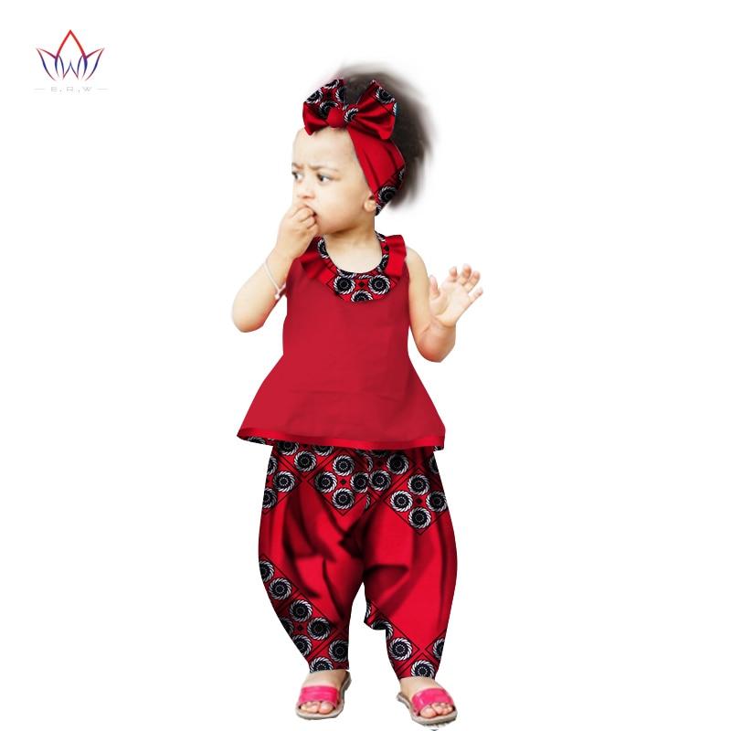 BRW 2017 Nieuwe Arriveren Afrika Broek Sets voor Kinderen Dashiki - Traditionele kleding
