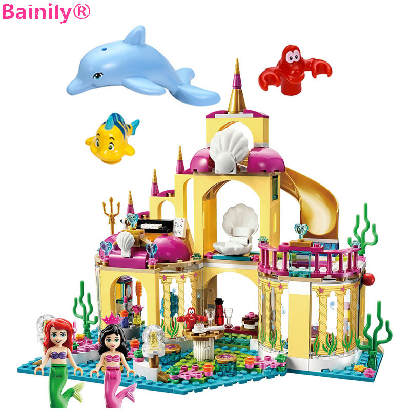 [Bainily]383pcs New Princess Undersea Palace Girl Building Blocks Bricks Toys For Children Compatible With LegoINGly Friends ...