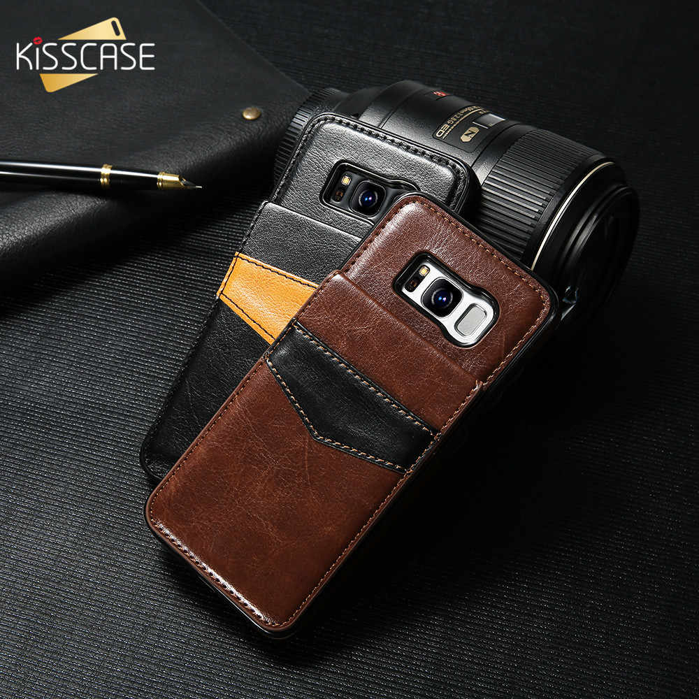 KISSCASE Flip Leather Phone Case For Samsung Galaxy Note 9 Case S9 S8 Plus Card Holder For Samsung S6 S7 Edge Wallet Flip Cover
