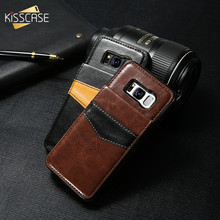 KISSCASE Flip Leather Case For Samsung Galaxy Note 10 Plus Note 9 S9 S8 Plus wallet case For Samsung S10 S6 S7 Edge Flip Cover 2 in 1 leather wallet case for samsung s9 s8 s7 s6 edge plus note 8 9 4 5 phone panel adsorption bracket photo frame slot flip