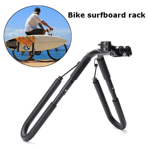 Image 2 - 8 inch bike Surfboard rack 25 32mm Wakeboard Bike holder Bicycle Surfing Carrier Mount To Seat Posts bicycle accessories