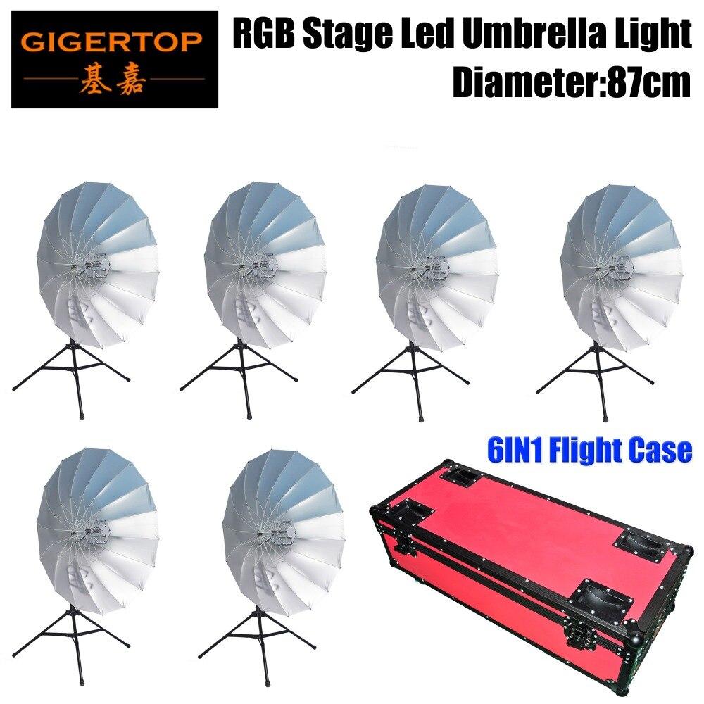 Gigertop Stage Background Led Decoration RGB Umbrella Light 114 SMD RGB 6 Illumination Segment Tripod Optional DMX Controllable