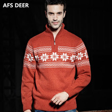 England Style Men Fashion Zipper Tuetlenneck Computer Knitting Jacquard Weave Sweater Men Business Causal Pullovers Sweater