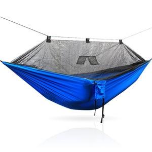 Image 5 - Tragbare 300*140 260*140 cm größe garten schaukel, camping bett, anti moskito hängematte. Es sind verschiedene farben zu wählen aus