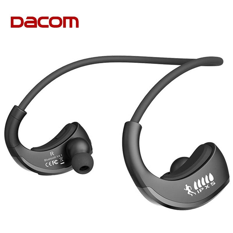 DACOM IPX5 Armadura À Prova D' Água Fones de Ouvido Bluetooth Sem Fio Esportes Execução Fone de Ouvido Da Orelha-gancho do Fone de ouvido com Microfone fone de ouvido