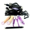 Máquina de sexo para mulheres Com muitos brinquedos dildos gratuitos todos os países adaptador e carregador automático de bombeamento retrátil arma A5-00021