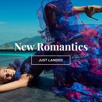 V Neckline Ruffle Blue Floral Print Dress Organza Frilled Butterfly Sleeve Summer Beach Dresses Bohemian Women