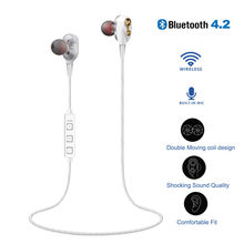Bluetooth Headphones Wireless Double Unit Earphone Bluetooth Two Unit Driver Earbuds HIFI Bass Subwoofer Headset With Mic#10(China)