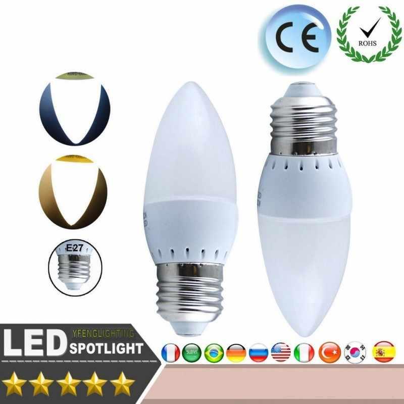 LED Candle light Energy conservation CE ROSH 6W 8W E14 E27 LED Bulbs chandlier crystal Lamp Ampoule Bombillas LED Candle Light
