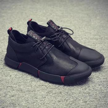 2019 NEW Men s Shoes Sneakers Men High Quality Men Casual Shoes Fashion PU Leather
