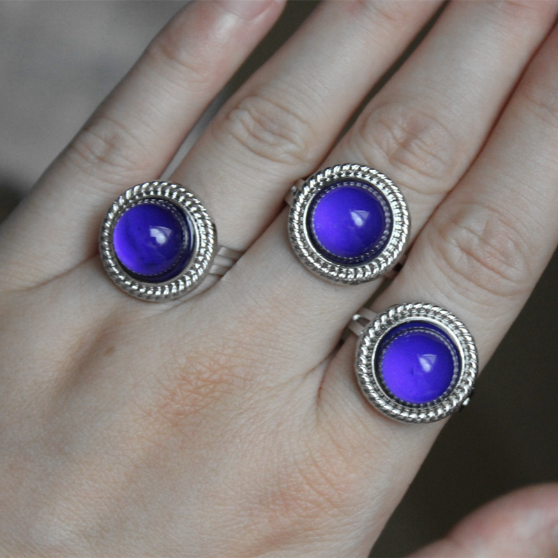 Magic glowing stone rings jewelry fashion change color for Fashion jewelry that won t change color