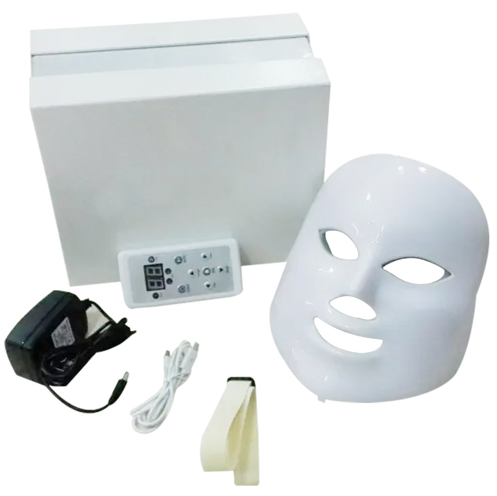 PDT Photon LED Facial Mask Skin Rejuvenation Wrinkle Removal Electric Device Anti-Aging Mask Therapy 7 Colors Beauty Machine 7 colors light photon electric led facial mask skin pdt skin rejuvenation anti acne wrinkle removal therapy beauty salon