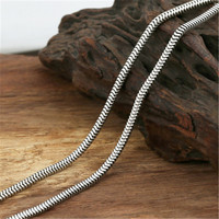 3mm Snake Chain 100% Pure 925 Sterling Silver Chain Necklaces for Men Women Sterling Silver Necklace Accessories 18 32 inch