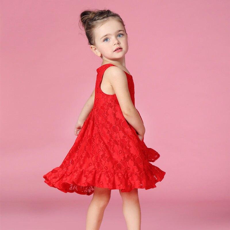 2916夏ドレスのため赤ちゃん女の子服新しい生まれベビー服1歳の誕生日パーティーイブニングドレスレー.